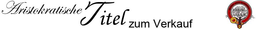 Adelstitel zum Verkauf Logo